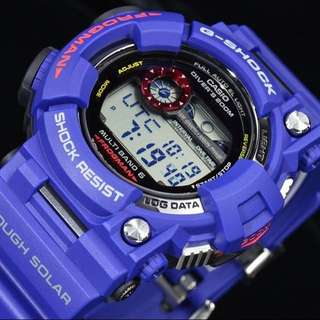 100% Authentic New Casio G-Shock Men In Navy Frogman GWF-1000NV-2 MB6 Watch Full Set Rare