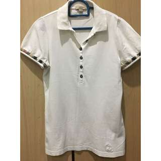 Authentic Burberry Brit white polo tee