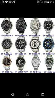 Casio edifice watches. Stainless steel