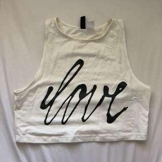 H&M love crop