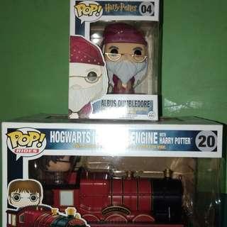 Funko POP! Hogwarts Express Train and Albus Dumbledore