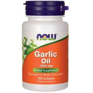 (USGMP) NWF887 NOW Foods Garlic Oil Triple Strength 1500mg100粒 強效大蒜油 清腸殺菌 免疫健康