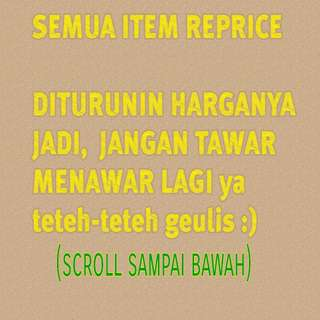 REPRICE, SCROLL DOWN