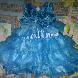 Blue gown 1-2 yrs old