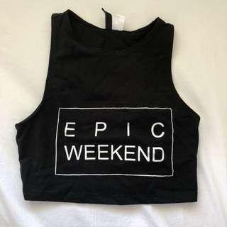 H&M EPIC WEEKEND crop