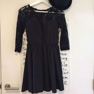 Sheinside black lace dress