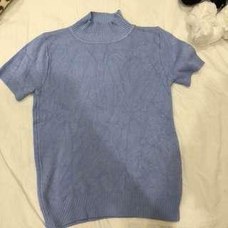 baby blue針織上衣