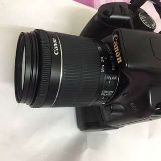 canon 450D body btry grip 350.    lens STM 18 55MM rm 250