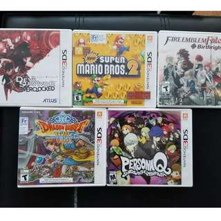 Various excellent 3DS games for sale