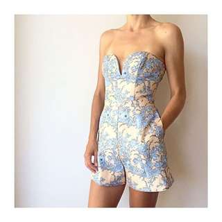 ZIMMERMANN silk brocade playsuit