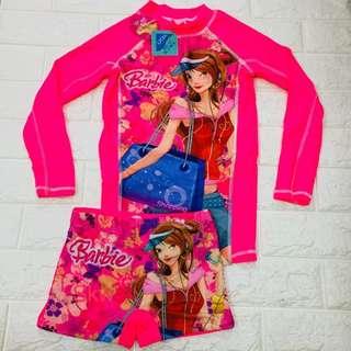 Barbie Terno Top and Short Rashguard Swim Wear