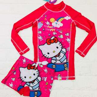 Hello Kitty Terno Top & Short Rashguard Swim Wear