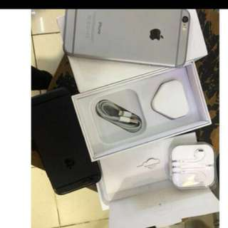 Iphone 6 64 GB fullset ada Bonus Pure Gear