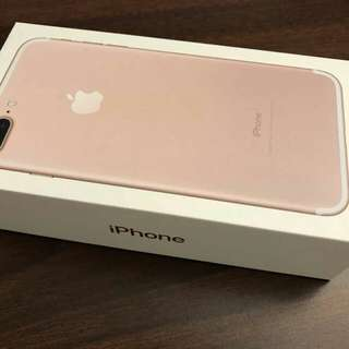 Iphone 7 plus rose gold 256gbs