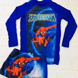 Spiderman Rashguard Swim Wear