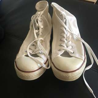 Size 15 hightop canvas shoes