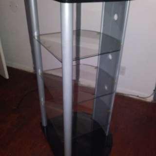 Glass shelf/ Tv stand