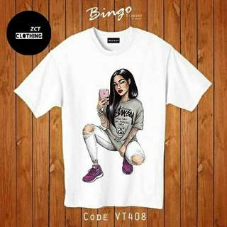 #SU SF selfie tee bahan katun combed 30s, fit to L