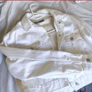 White oversized topshop denim jacket