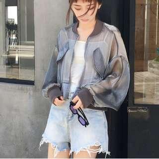 Cropped Transparent Jacket