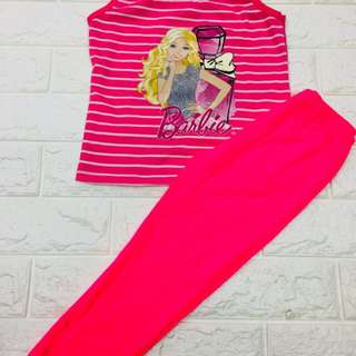 Barbie Frozen Minnie Hello Kitty Sando & Pants Set