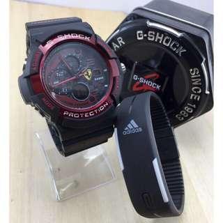 G shock Ferrari ( Free Jam bengel )