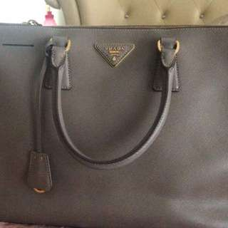 Authentic  Large PRADA Saffiano Leather in GREY