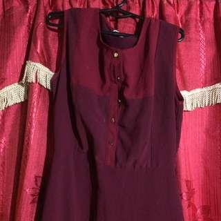 pd & co maroon dress