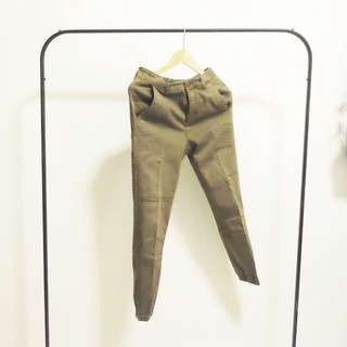 Zara Green Jogger Pants