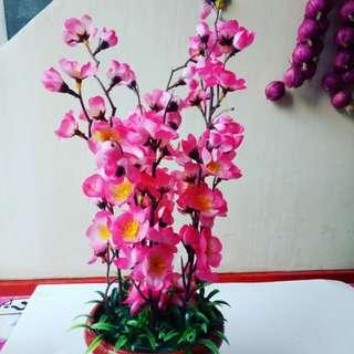 Artificial Bunga sakura dengan vas