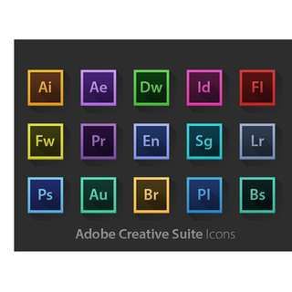 Adobe Photoshop , llustrator , inDesign , Adobe Premiere Pro , After Effects , and a lot more. All in One. CC 2018 (LIFETIME)