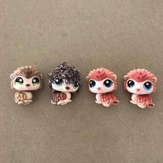 4x  Preloved Littlest Pet Shop Figures