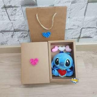 ($18) Stitch with hearts Valentine gift set