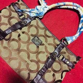 coach bag original (brown canvas)