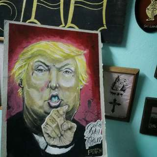 Trump, (A3) Mixed Media handpainted by Parn