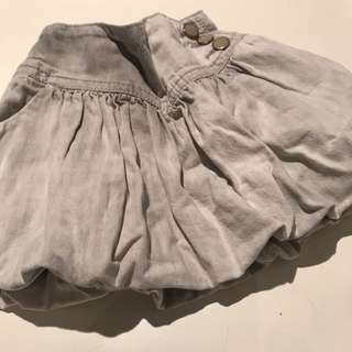 Denim skirt grey color from ZARA