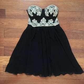 Dotti Cute Black Strapless Dress RRP80