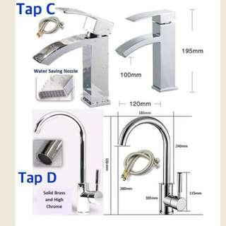 Basin Mixer Tap C , D & E Faucet (Hot & Cold Water Bathroom Kitchen taps)
