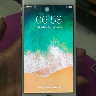 Jual iphone 6 128gb gold fullset