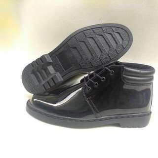 Sepatu kulit  dislap PDH tinggi