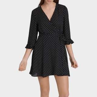 Realisation Par Style Polka Dot Miss Shop Wrap Dress