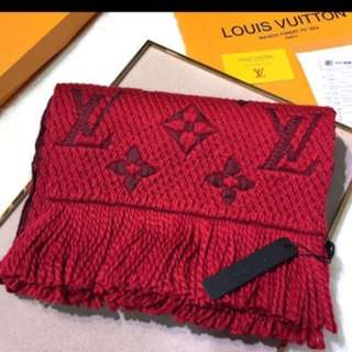 Authenthic Dual color LV scarf with receipt