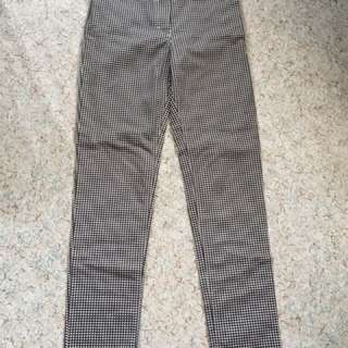 "Gingham high waisted skinny pants (26"")"