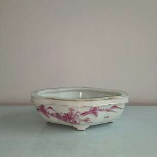 Antique Porcelain Basin Pot H7 L22 W16cm perfect