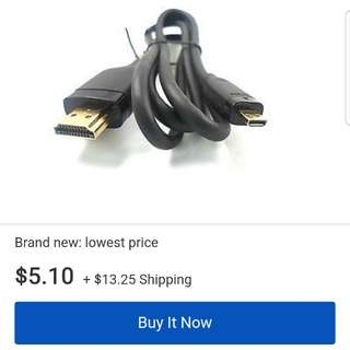 Sonny Ericson HDMI cable