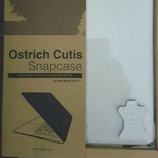 """Macbook  Air 11""""  Ostrich Cutisleather casing"""