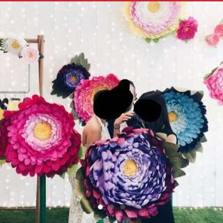 Paper flowers for wedding