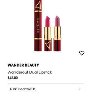 Wanderout dual lipstick in nikki beach