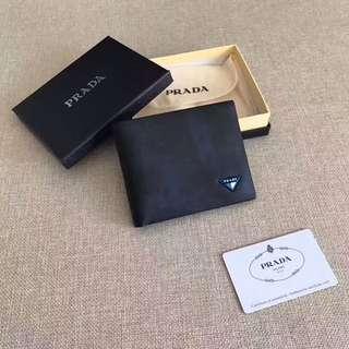 PRADA Luxury Wallet Dark Blue