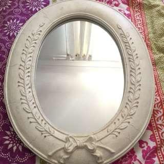 Cream/White Vintage Style Mirror